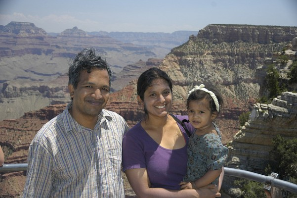 This photo of the author and family appeared along with the article in Himal South Asia magazine, Sept-Oct 2005.